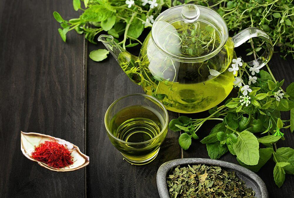 Groene thee met saffraan