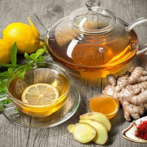 Saffraan citroen thee