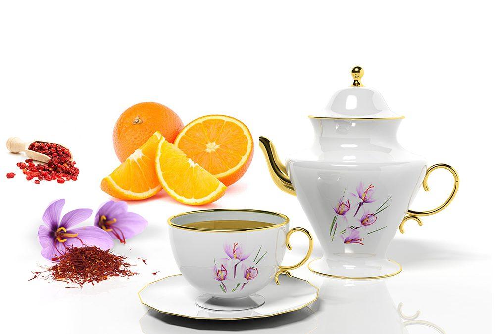Zuurbessen saffraan thee