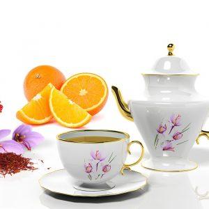 Saffraan thee zuurbessen